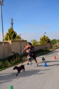 Carrera con Perro