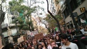 Huelga estudiantil en Valencia