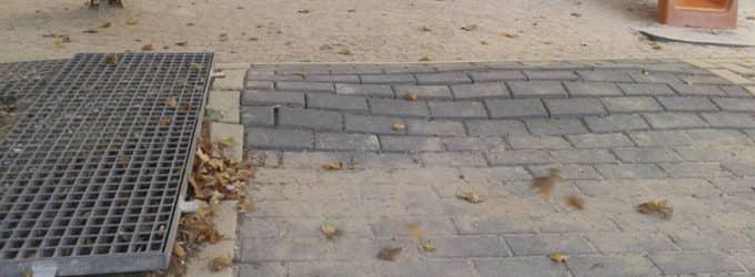El Partido Popular denuncia el mal estado del suelo del parque Sancho Medina