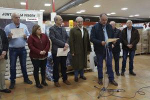 Recogida de tapones de plástico de la Fundación Seur en Villena