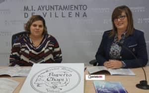 La edil Conchi Beltrán y la representante de la Sociedad, María José Hernández