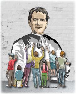 Dibujo Portada Boletín Salesiano Enero 2017 sin frases