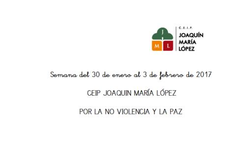 El colegio Joaquín María López celebra la Semana de la Paz con un acto solidario