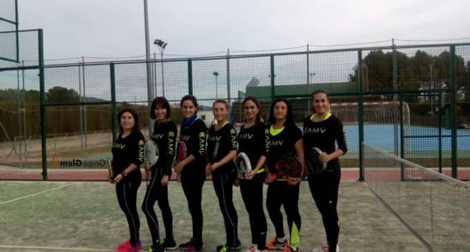 Nueva victoria del equipo de pádel CAMV- Villena en la liga provincial por equipos