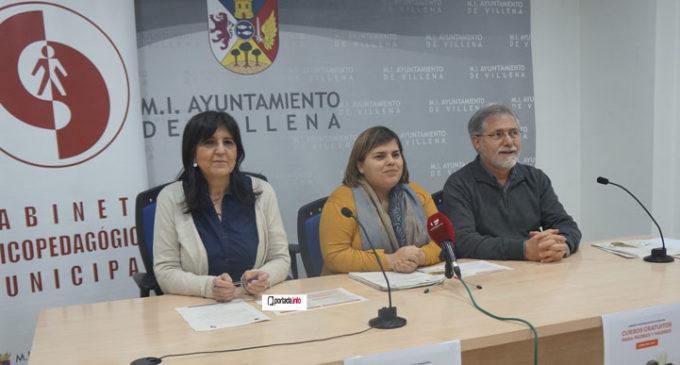 Villena organiza  dos cursos gratuitos para padres y madres