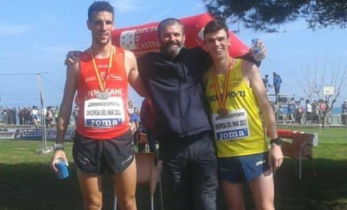 Dos atletas de Villena brillan en el campeonato de España de Cross por equipos