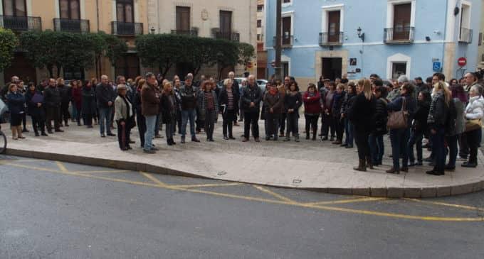 Concentración contra los asesinatos machistas en España