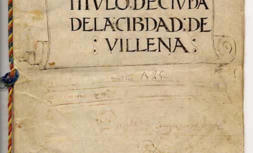25 de febrero,  492 aniversario de Villena como ciudad