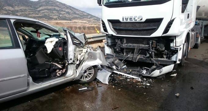 Trágico accidente en la N-344. Carretera de Fuente la Higuera