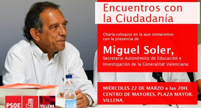 Encuentro con la ciudadanía de Miguel Soler, Secretario Autonómico de Educación