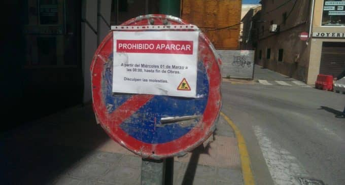 El PSOE denuncia la mala señalización en la obra de la calle Nueva