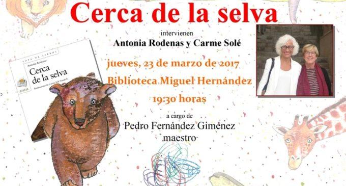 La villenense, Antonia Rodenas, presenta su último libro en la Biblioteca Miguel Hernández