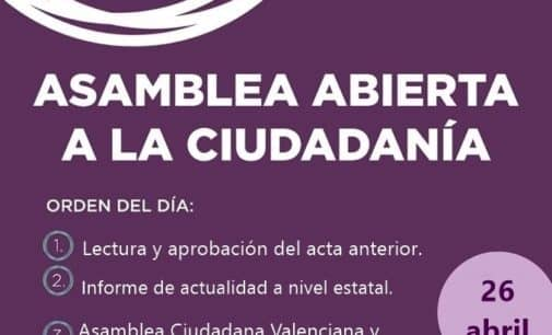 Podemos Villena convoca una asamblea para este miércoles 26 de abril