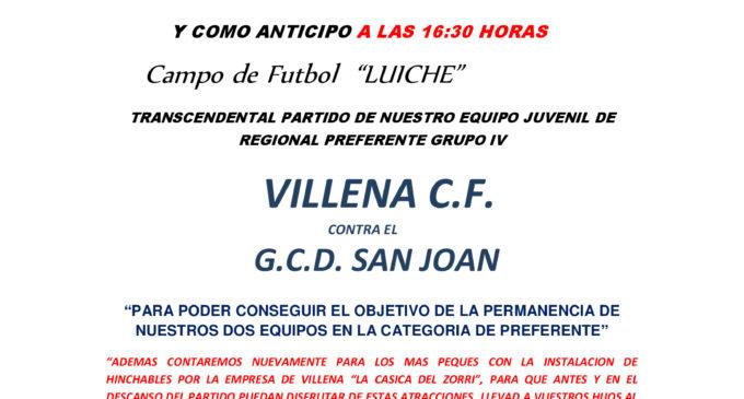 El Villena CF anima a la afición a que asista a La Solana el sábado 22 de abril