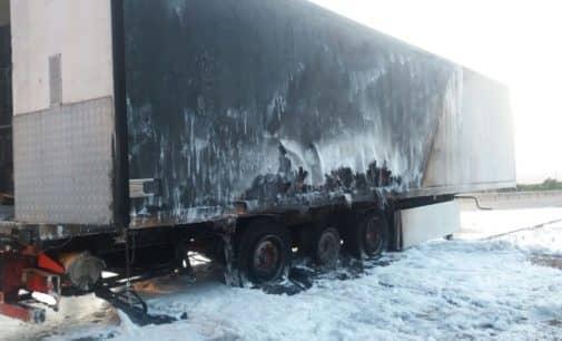 Incendio de un camión en la A-31