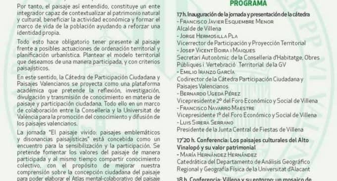 """La Junta Central de Fiestas organiza, junto con la Universidad de Valencia, una jornada comarcal de """"Participación y Paisaje"""""""