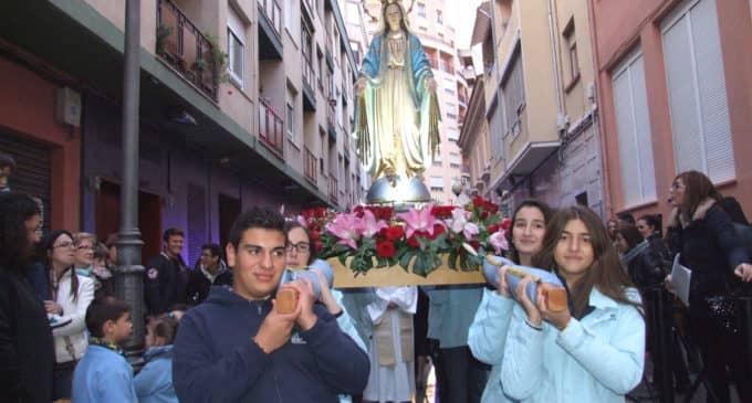 Traslado Virgen Milagrosa. Paulas Villena