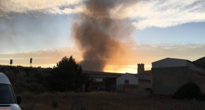 Incendio en la planta de residuos de Villena