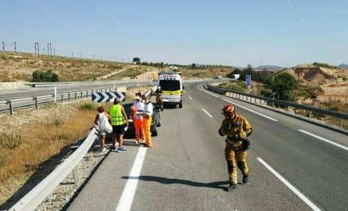Accidente en la autovía a la altura de la rotonda de Las Fuentes