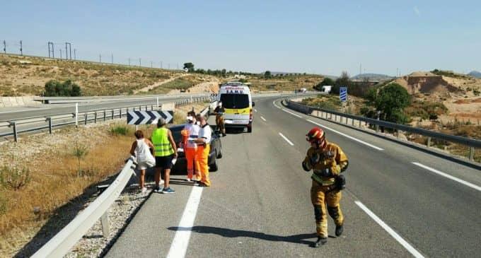 Accidente de tráfico en la A-31 sin heridos