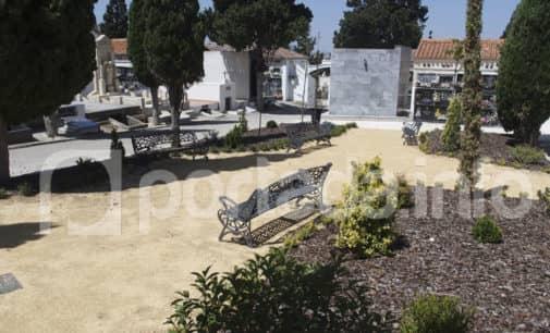 Villena habilita una zona ajardinada en la parte alta del Cementerio Viejo