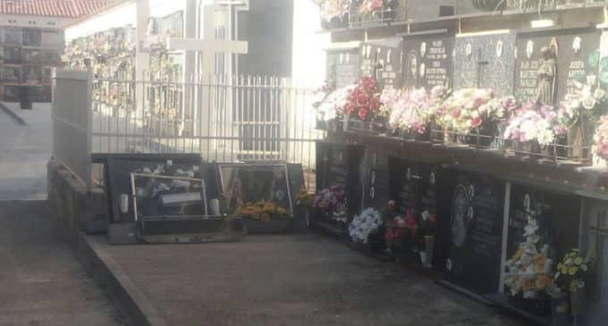 Villena refuerza el bloque de nichos que se resquebrajó en febrero