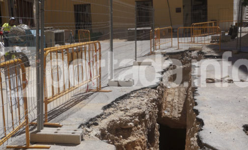 Paralizan las obras de adecuación de la calle Teniente Hernández Menor