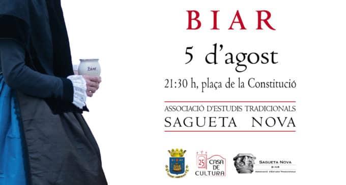 Sagueta Nova  de Biar organitza  unes activitats per a la divulgació de la indumentària tradicional valenciana
