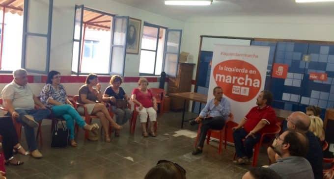 """Miguel Soler en Villena: """"Nos ha costado tener un presidente socialista en la Generalitat, ahora hay que reforzarlo"""""""