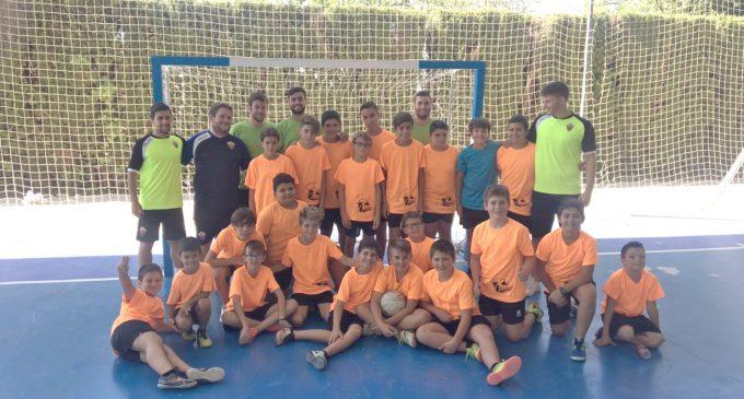 Varios jugadores y el entrenador del Elche F.S. visitan el 4º Campus del Bel-liana Fútbol Sala