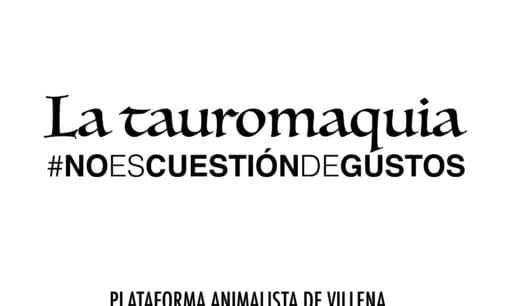 La plataforma Animalista inicia la campaña «No es cuestión de gustos»