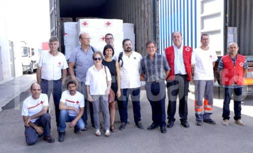 Cruz Roja y la Generalitat envían desde Villena ayuda humanitaria a refugiados saharauis