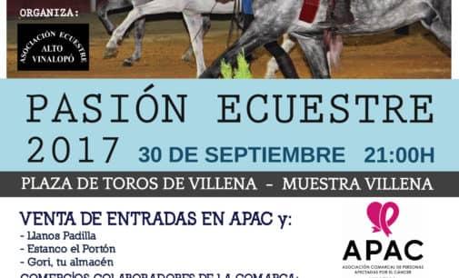 El espectáculo Pasión Ecuestre será a beneficio de APAC
