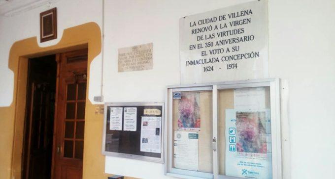 Retiran una placa del santuario de Villena en cumplimiento de la ley de la memoria histórica