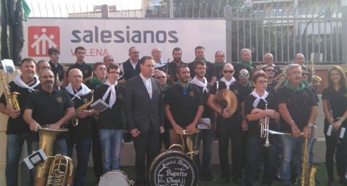 La Sociedad Musical Ruperto Chapí en la visita del rector mayor Salesiano