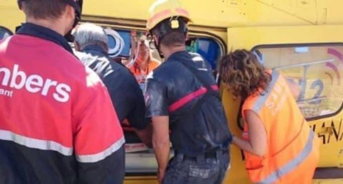 Un trabajador de una cantera de La Encina resulta herido