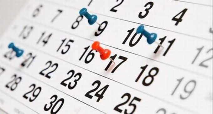 El BOE publica el calendario laboral para 2018