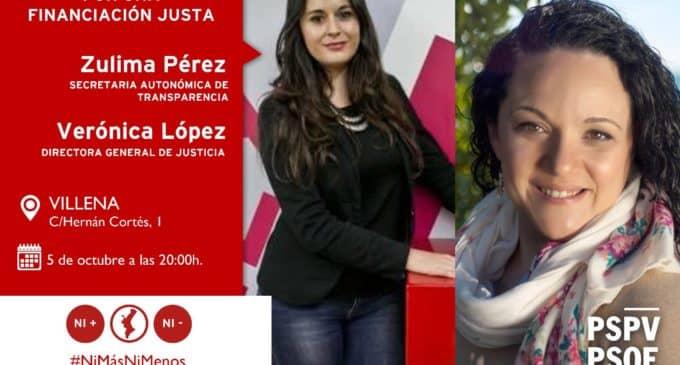 Encuentro en Villena con  Zulima Pérez, Secretaria Autonómica de Transparencia y Verónica López, Directora General de Justicia