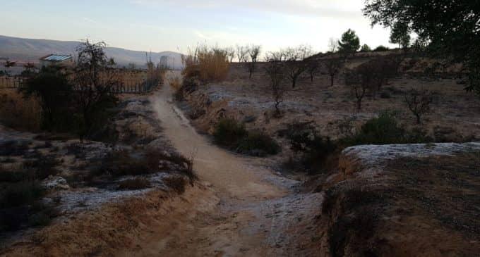 En el paraje La Laguna de Villena se registran -9.2 grados