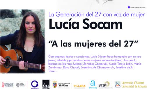 """La cantautora Lucía Socam inicia el ciclo """"Cultura y Mujer"""" en la Casa de Cultura en 2018"""