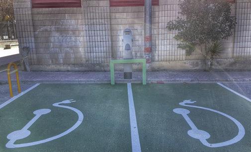 16 vehículos han utilizado el punto de recarga eléctrico municipal situado en el Mercado