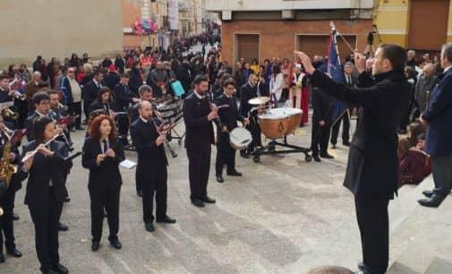 Asociación Musical Adelum de Villena, segunda clasificada en la entrada de bandas y fiesta del pasodoble de las fiestas de Sax 2018