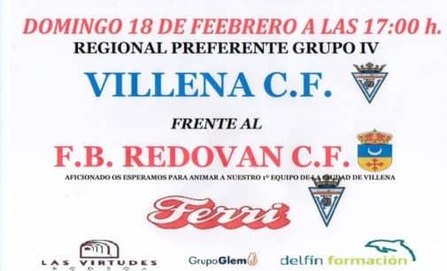 Hoy martes juega el Cadete A del Villena CF