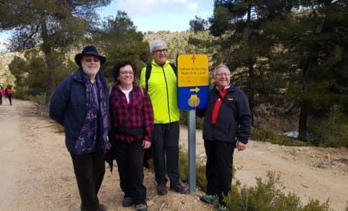 La Asociación de Amigos del Camino de Santiago de Villena presentes en la inauguración del albergue de Alatoz