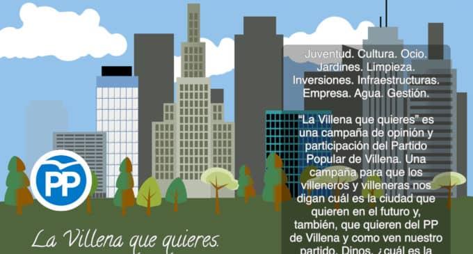 """El Partido Popular de Villena lanza la campaña de opinión y participación """"La Villena que quieres"""""""