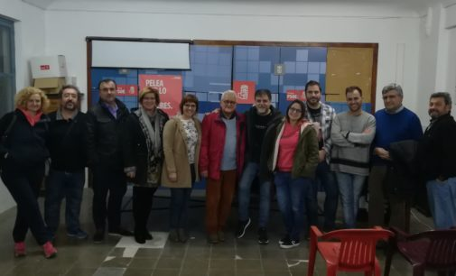 Fulgencio Cerdán, reelegido secretario general del PSOE de Villena