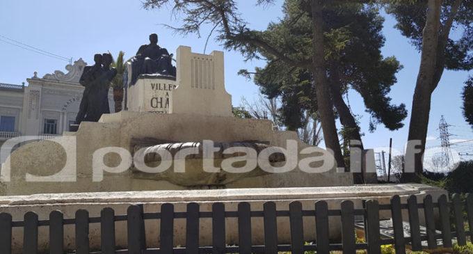 El PSOE pide remplazar el vallado del monumento a Ruperto Chapí