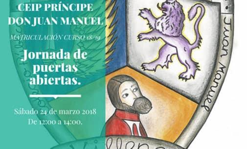 Jornadas de puertas abiertas del colegio Príncipe Don Juan Manuel