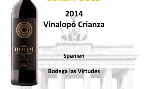 Medalla de Oro para nuestro Vinalopó Crianza ene el Berliner Wine Trophy 2018