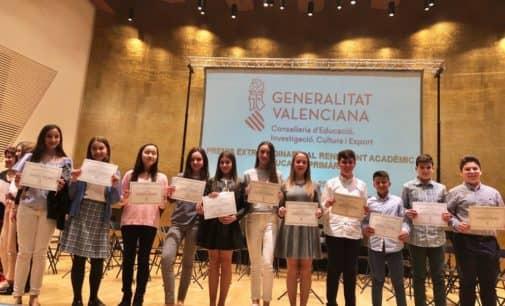 11 escolares de Villena galardonados en los Premios al Rendimiento Académico en Alicante